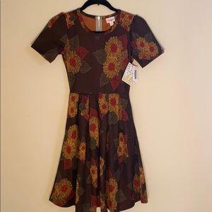 Fall flower dress Amelia lu la row new